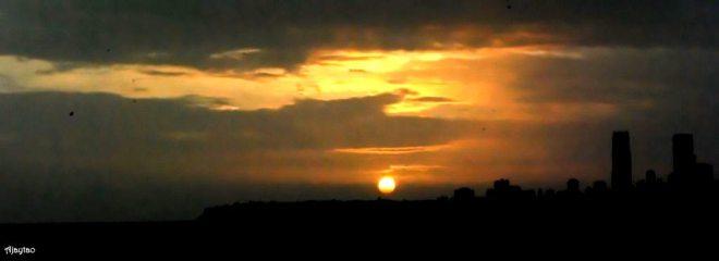 Sunset over sea - Mumbai - Ajaytao